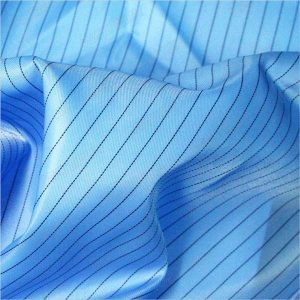 5ミリメートルストライプツイルポリエステル静電気防止織物静電気防止服のための
