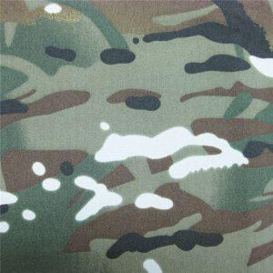 テフロン100%ポリエステル織防水屋外軍隊迷彩レインジャケットファブリック